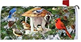 Winter Songbirds Mailbox Makover Cover - Vinyl with Magnetic Strips