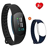 Fitness Tracker with UI colourful screen HOMESTEC 9U Plus Heart Rate Monitor Bluetooth