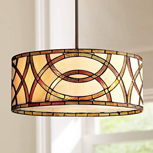 Art Glass Circles 20 W Tiffany Style Pendant Chandelier