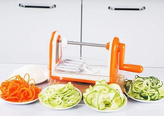 Compra SWXBB Limpiaparabrisas Multifuncional Manual, Cortador en Espiral, Cortador de Vegetales, Cortador de filamentos para el hogar de la Cocina, ...