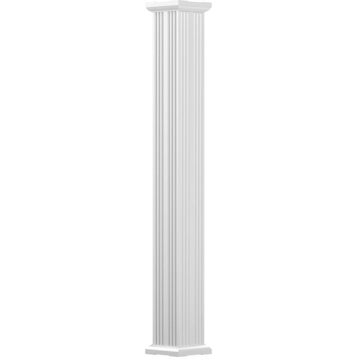 Square Shaft Non-Tapered Textured Black Finish w// Capital /& Base Fluted AFCO EA0408ENFSGTUTU 4 x 8 Endura-Aluminum Column Load-Bearing 12,000 lbs