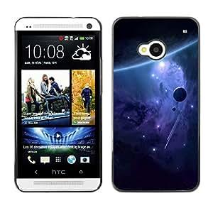 TopCaseStore / la caja del caucho duro de la cubierta de protección de la piel - Space Galaxy - HTC One M7