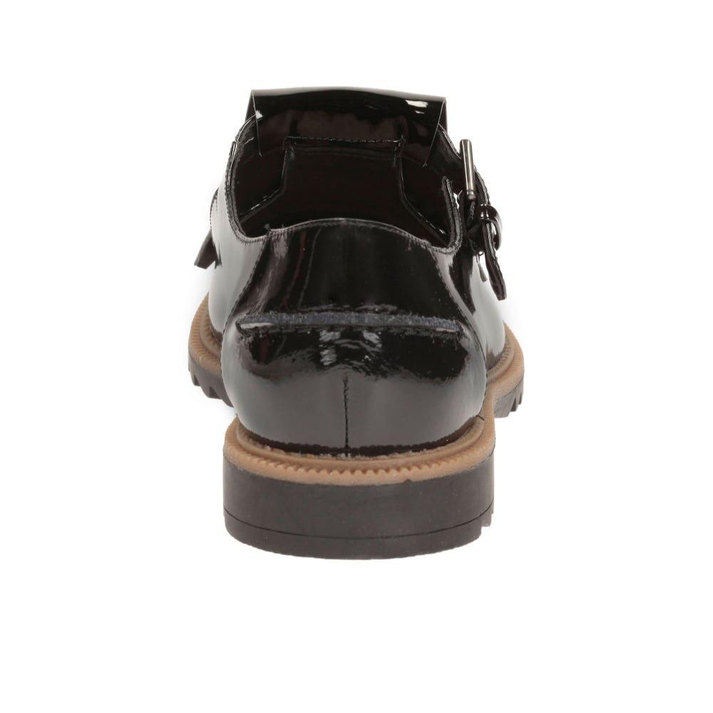 Clarks Griffin MIA Mujeres Angostas con Flecos Zapatos T Bar