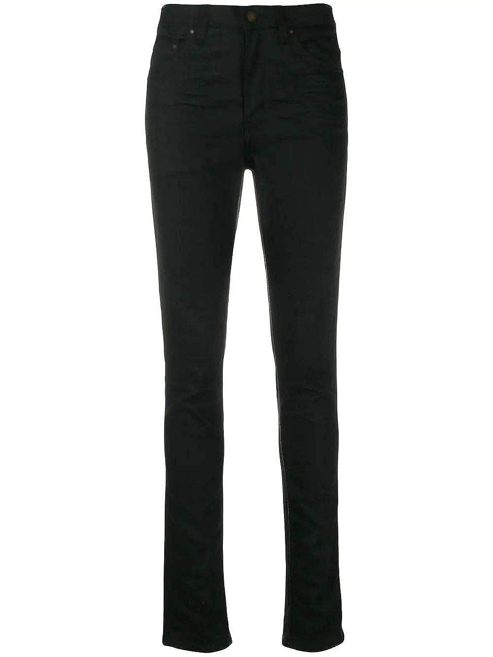 Saint Laurent Luxury Fashion Womens 527379YO5001080 Black Jeans | Season Permanent