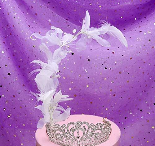 Silver Tiara Cake Topper Girls Women Birthday Party Crystal Rhinestone Beaded Princess Hair Accessory