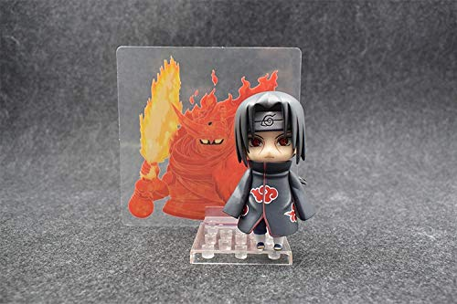 KPST Figures - New 10cm Naruto Nendoroid Shippuden Uchiha Itachi 820 Anime Action Figure PVC Toys Collectible Dolls Christmas Birthday Gifts for Friends - Box ()