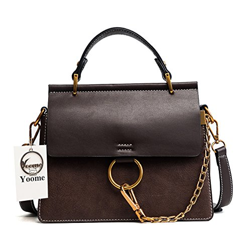 Yoome Women's Vintage Shoulder Bags Top Handle Handbags Crossbody Ring Bag Designer Purse ()