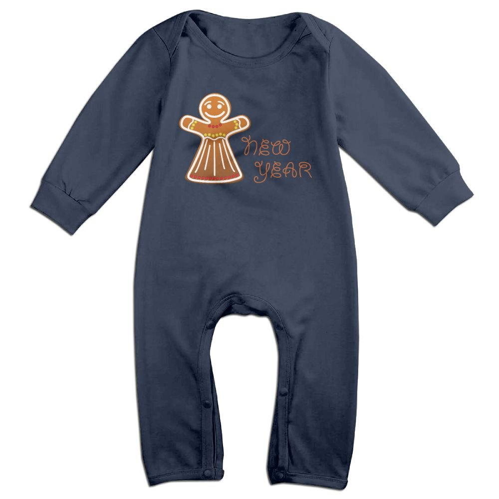 Cartoon New Year 2018 Long Sleeve Infant Boys Girls Jumpsuit Cotton Baby Jumpsuits