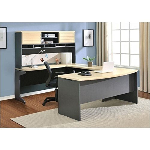 Ameriwood Home Pursuit U-Shaped Desk with Hutch Bundle, Natural by Altra Furniture (Image #3)