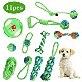 Dog Rope Toys- Queseen 11pcs Pet Dog Rope Chew Toys Puppy Braided Rope