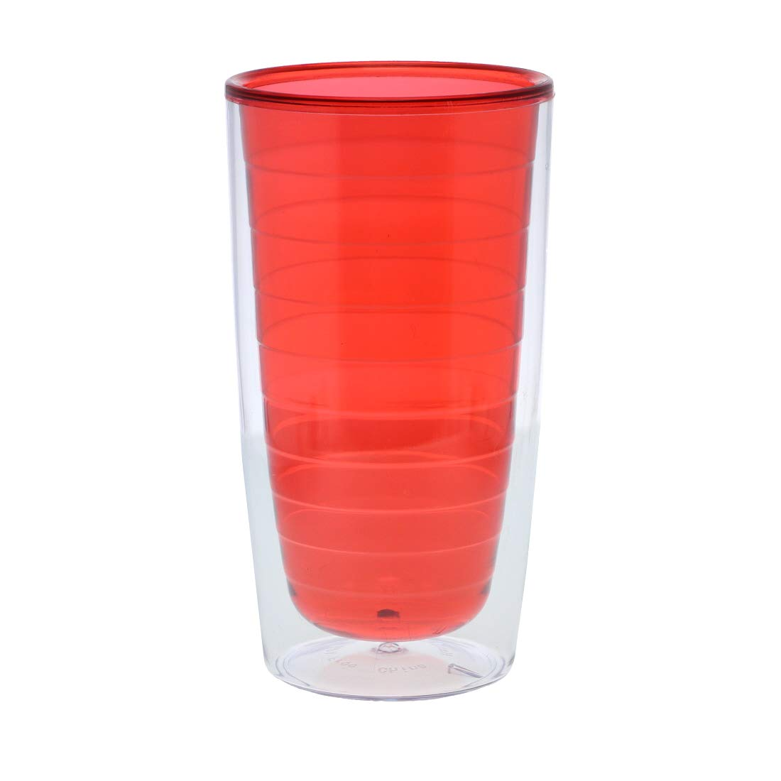 Red Color Splash Tumbler 16oz Double Wall Set of 5