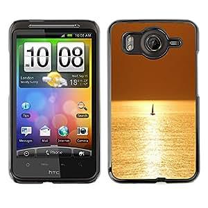 Cubierta de la caja de protección la piel dura para el HTC DESIRE HD / G10 - sea sailing boat sailboat summer