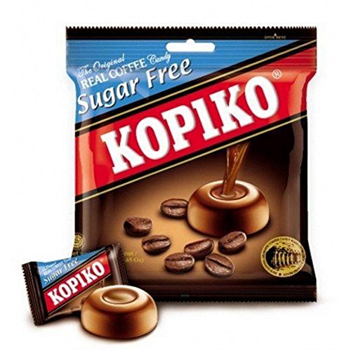Cappuccino Candy (Kopiko Real Coffee Candy Sugar Free 25 Tablets X 3 Grams)