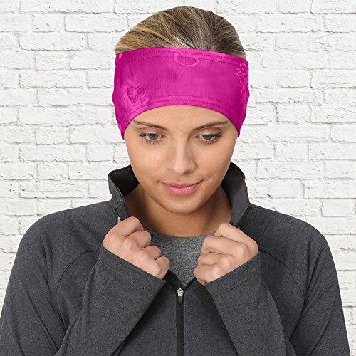 TrailHeads Women's Print Ponytail Headband – 12 prints - Made in USA - pink splash by TrailHeads (Image #3)