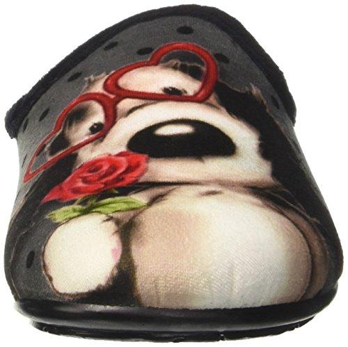Caviglia GRÜNLAND sulla Nero Aperte Pantofole Ci2203 Donna AqZ4rqIzw