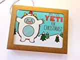 Boxed Set of 8 Funny Christmas Cards - ''Are you Yeti For Christmas?''