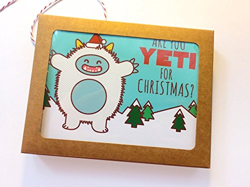Boxed Set of 8 Funny Christmas Cards - ''Are you Yeti For Christmas?'' by Tiny Bee Cards