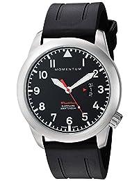 Momentum Men's 1M-SP18BS1B Analog Display Swiss Quartz Black Watch