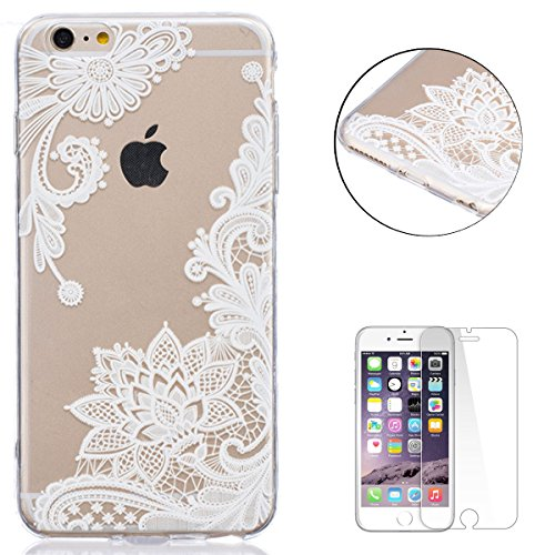 iPhone 6/6S 4.7 Inch Silicone Gel Case,CaseHome Clear Soft Rubber TPU Cover Skin Shell for Apple iPhone 6/6S with Beautiful Colourful Pattern Design-Dreamcatcher Feathers