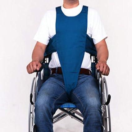 Sujeción de chaleco de pecho cruzado con cinturón de seguridad de silla de ruedas de tamaño