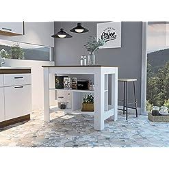 Kitchen TUHOME Cala Kitchen Island modern kitchen islands and carts