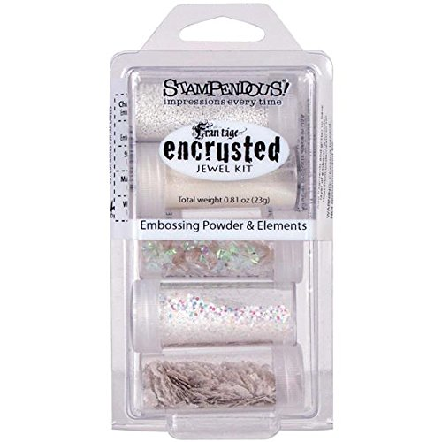 Stampendous Encrusted Jewel Kit-White EJK08