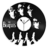 Cheap VinylShopUS – Beatles Vinyl Wall Clock Music Bands and Musicians Themed Souvenir