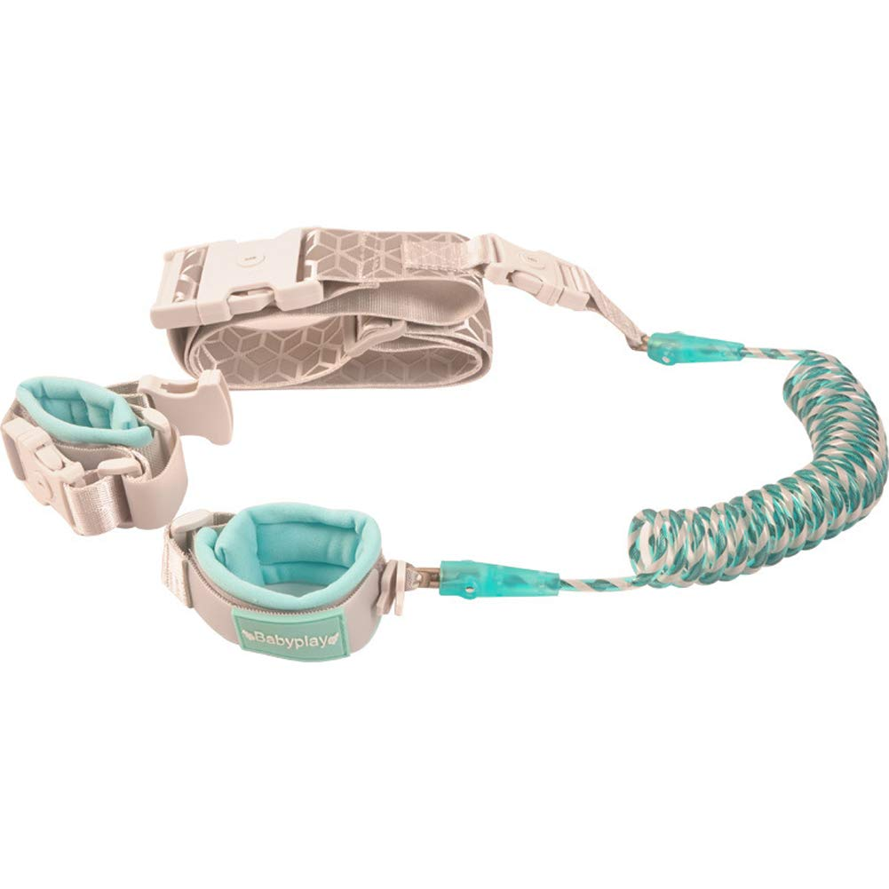 MQC Anti-Lost Wrist Chain, Secure Wrist Connection with Sensor Lock for Babies and Children,Green,1.5m