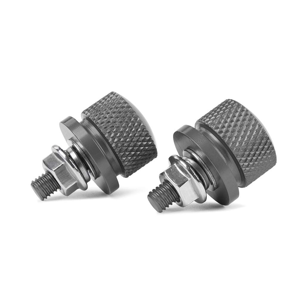 XX eCommerce Motorcycle Motorbike 1pair Universal M6 License Plate Frame Bolt Refit Screw Nut Caps Knurled ATV Dirt Bike Crusier Orange