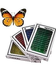 WhizKidsLab 48pzas Juego Muestras Preparadas Microscopio Animales Insectos Plantas Flores Plástico + 1pza Espécimen Mariposa Real Niños Estudiantes Ciencia Juego Educativo