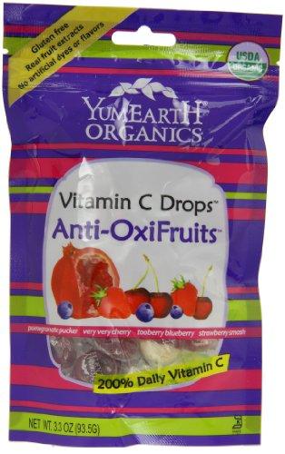 Yummy Earth Prganics Vitamin C Drops Anti Oxifruits, 3.30 Oz (Pack of 6) by YummyEarth