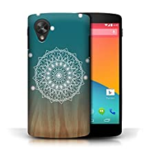 STUFF4 Phone Case / Cover for LG Google Nexus 5/D821 / Mandala/Wood Design / Ombre Pattern Collection