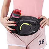 Innokids Fanny Pack with Water Bottle Holder Hiking Waist Pack Lumbar Waist Bag for Women Men Running Dog Walking Camping Travel (Dark Gray)