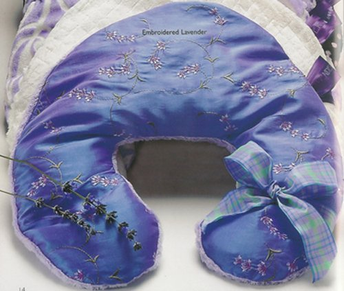 Sonoma Lavender Neck Pillow - Embroidered Lavender by Sonoma