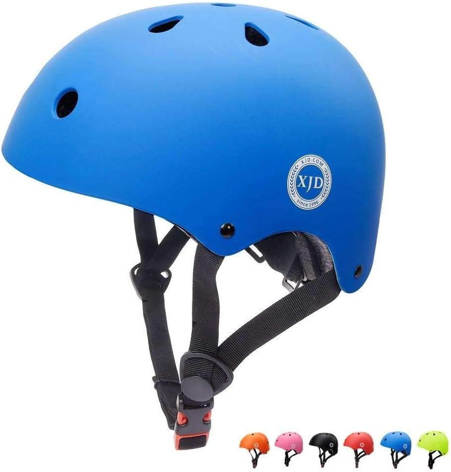 XJD Casco de Ciclismo para Niños Ajustable y Resiste al Impacto Ventilación con Muchos Colores -para Multideportivo Patineta Bicicleta Rollerskate