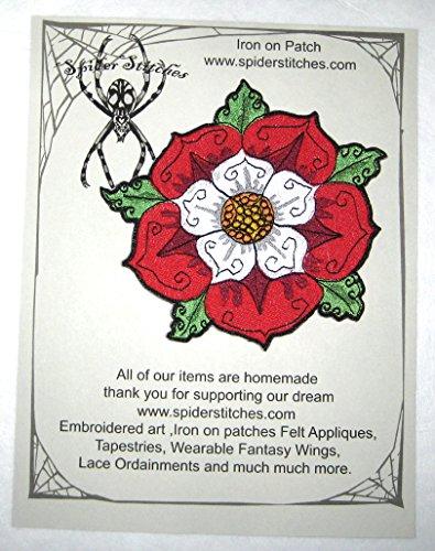 Red and White Tudor Rose Heraldic Heraldry Iron