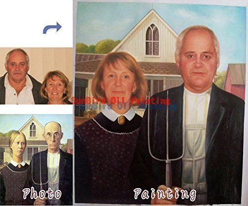 Custom Family Oil Portrait Painting Paint Your Face Onto Master Famous History