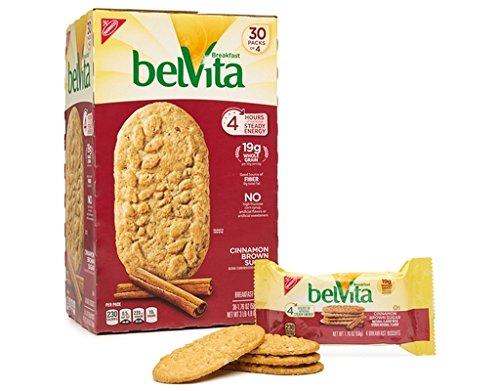 Belvita Breakfast Biscuits Cinnamon Brown Sugar 30 Packs 1.76oz (Biscuit Sugar)