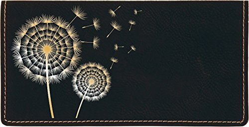 (Make A Wish Laser Engraved Leatherette Checkbook Cover)