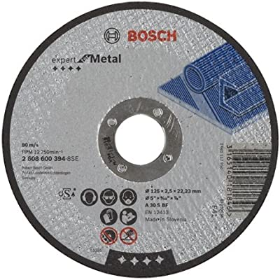 Bosch 2 608 600 394 - Disco de corte recto Expert for Metal - A 30 S BF, 125 mm, 2,5 mm (pack de 1): Amazon.es: Bricolaje y herramientas