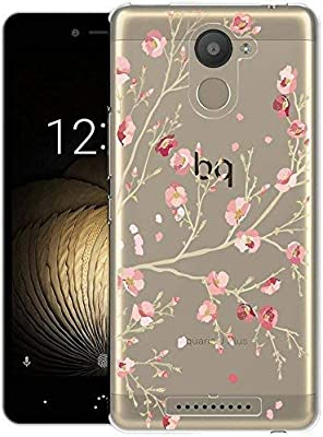 Funda BQ Aquaris U Plus, Langlee Carcasa Silicona Gel Slim Fit Case Transparente TPU Goma Bumper Anti-rasguños Flexible Cover para BQ Aquaris U Plus ...