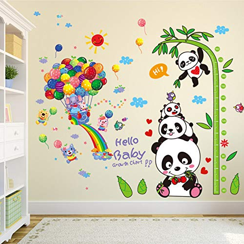 Cheap  Meaosy Pandas Elephant Animals Wall Stickers PVC Material Balloons Bamboo Wall Decor..