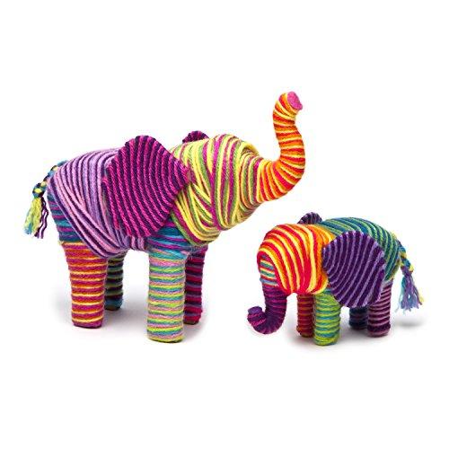 51RDeOG7xmL - Craft-tastic – Yarn Elephants Kit – Craft Kit Makes 2 Yarn-Wrapped Elephants