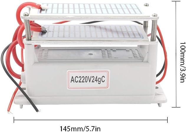 KKmoon 220V/24g Generador de Ozono de Cerámica Portátil ...