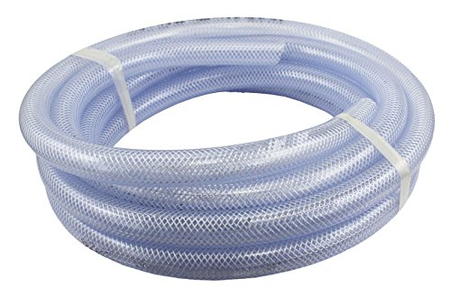 Food Grade High Pressure Braided PVC Tubing, 100 Ft Roll 1/2