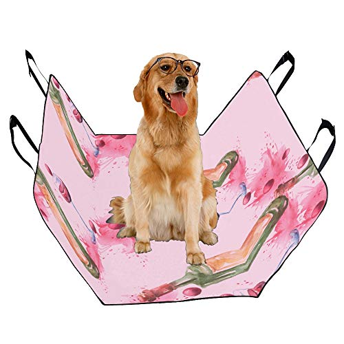 XINGCHENSS Fashion Oxford Pet Car Seat Red Wine Cork Retro Design Taste Stylish Color Waterproof Nonslip Canine Pet Dog Bed Hammock Convertible for Cars Trucks SUV