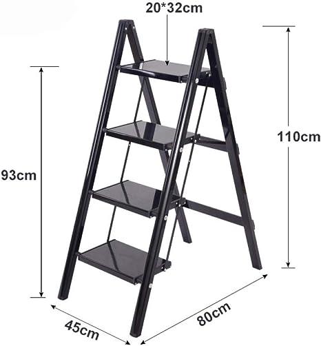 WTFYSYN Escalera de Aluminio doméstica multifunción, Escalera de Aluminio Gruesa Plegable, Taburete Plegable de Tres o Cuatro escalones, extensión telescópica Escalera Tipo Loft Multiusos Alta: Amazon.es: Deportes y aire libre