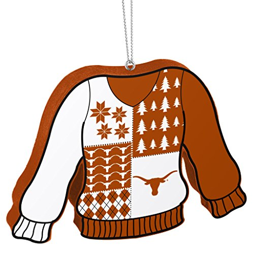 Forever Collectibles Texas Longhorns Official NCAA 5.5 inch Foam Ugly Sweater Christmas Ornament by 273917 by Forever Collectibles
