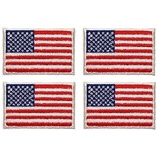 American Flag Patch USA Patch US United States Patch Embroidered Iron Sew On x10