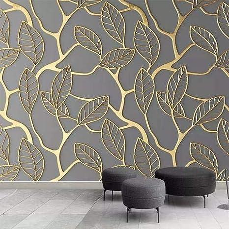 Avikalp Exclusive Awz0100 Stereoscopic Golden Tree Leaves Hd 3d Wallpaper 2 Ft X 3 Ft